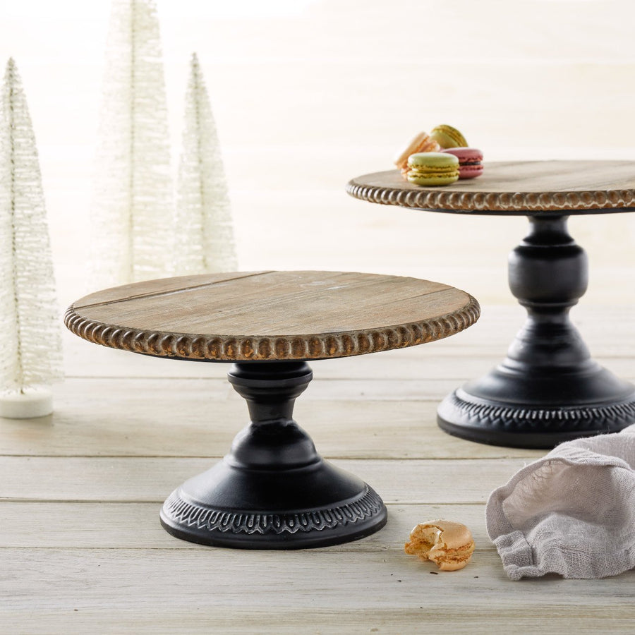 Wood and Metal Pedestals