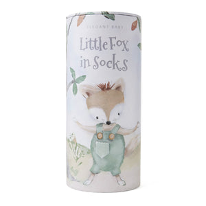 Felix the Fox Baby Knit Toy & Book Set w/Gift Packaging
