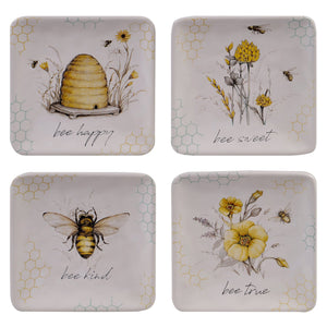 Bee Sweet Canape Plates