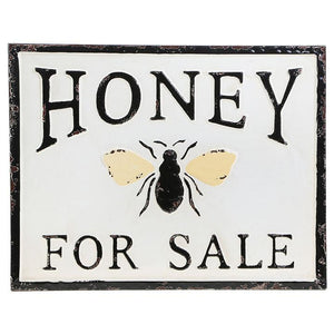 """Honey for Sale"" Metal Sign"