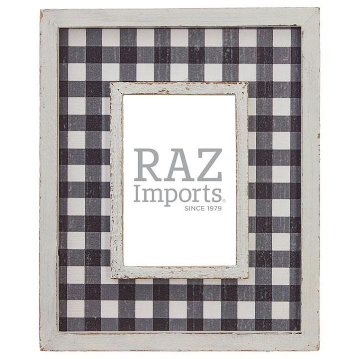 Black & White Checkered Picture Frame
