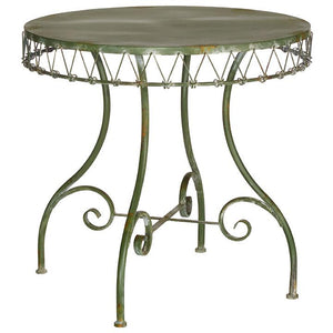 Distressed Green Iron Table