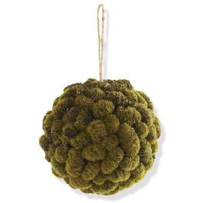 "5"" Mossy Mini Pinecone Ball Ornament"
