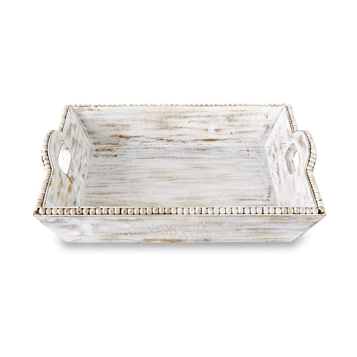 White-Washed Beaded Tray