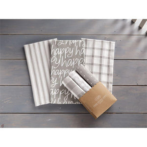 Happy Gray DIsh Towel Set