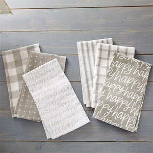Happy White DIsh Towel Set