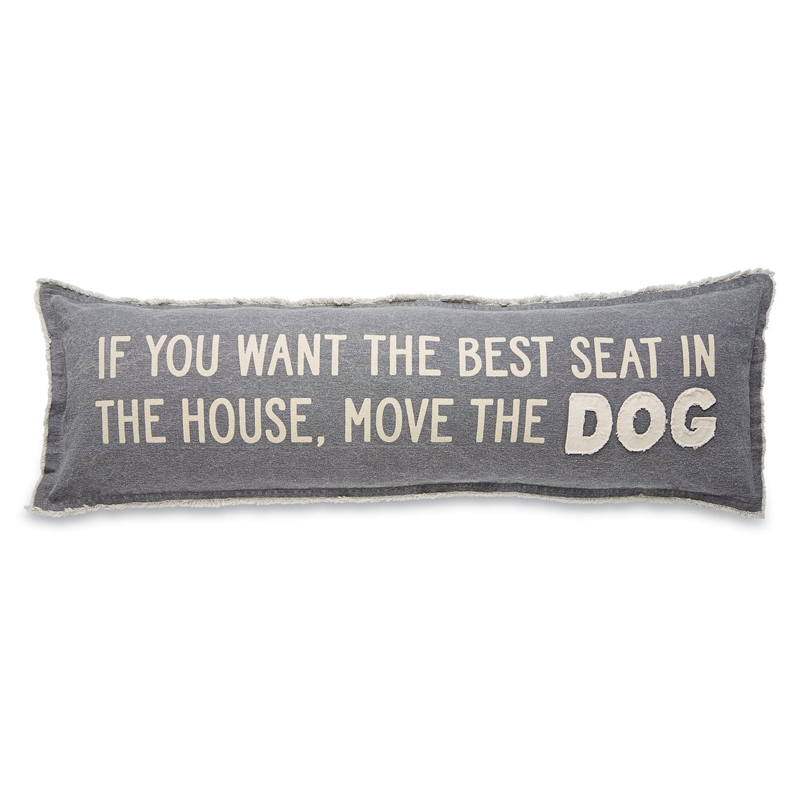 Best Seat In The House Canvas Pet Long Pillow