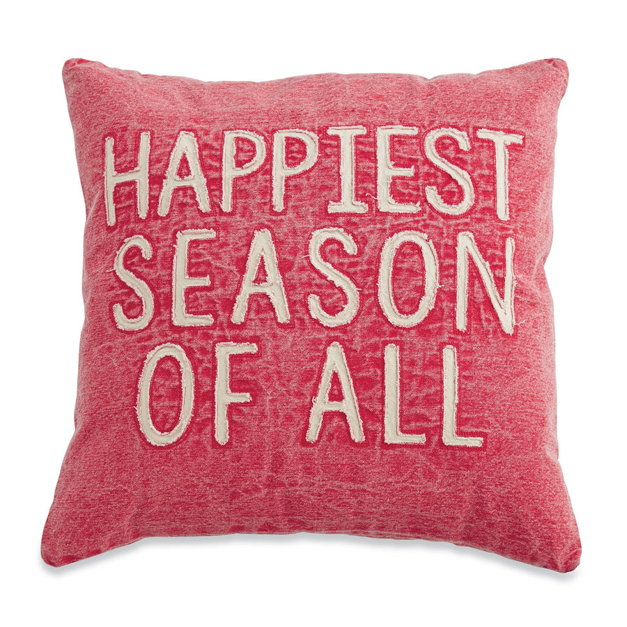 Happiest Washed Canvas Pillow