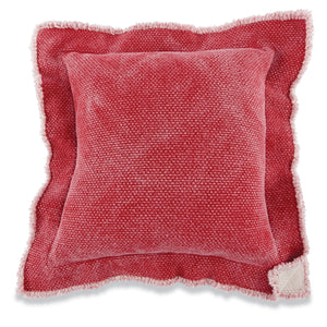 Red Double Flange Pillow
