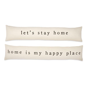 Let's Stay Home Long Skinny Pillow