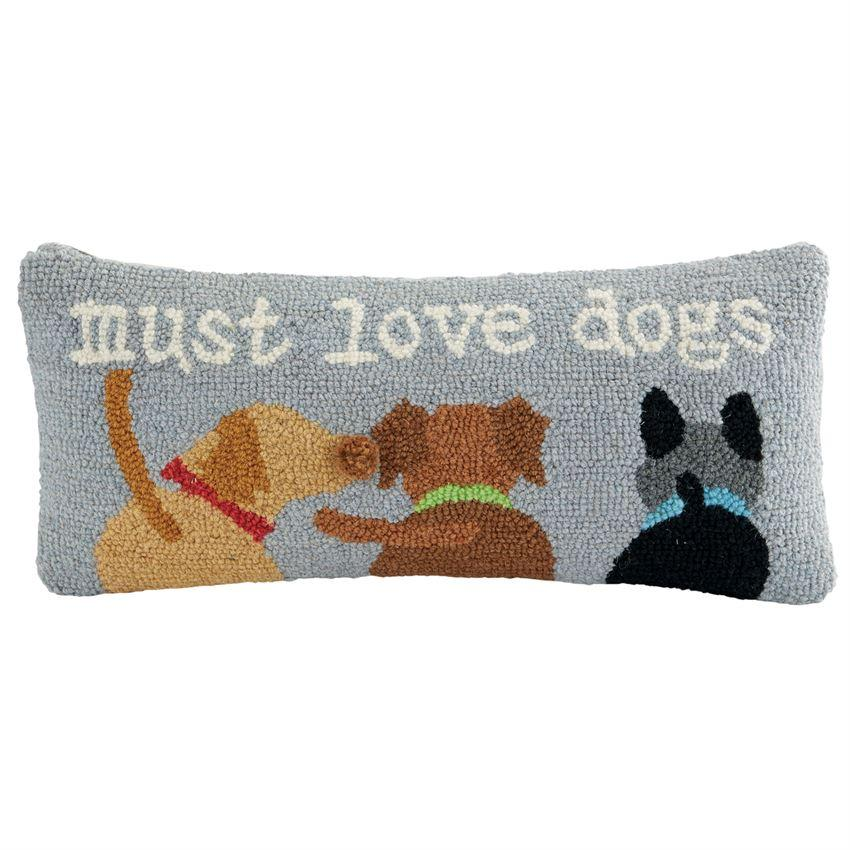 Must Love Dogs Hooked Pillow