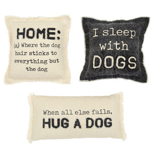 Washed Canvas Dog Pillows