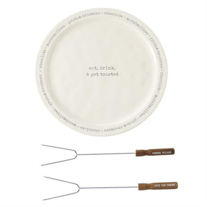 S'More Plate & Skewer Set