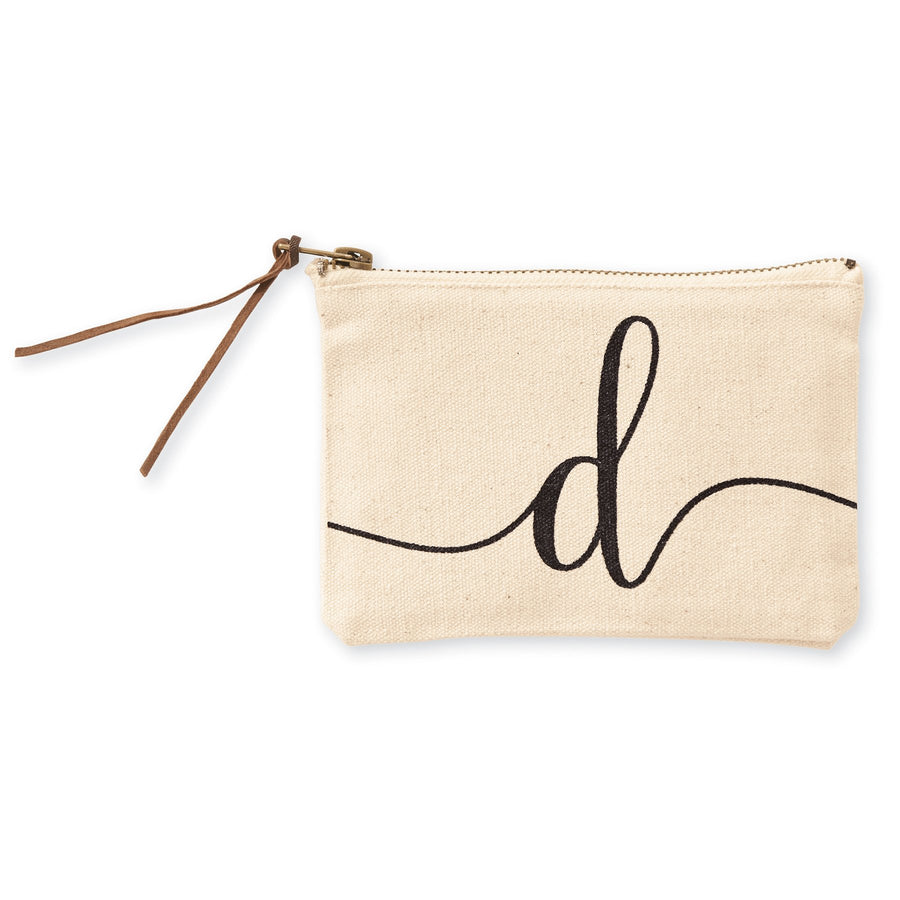 """d"" Initial Canvas Cosmetic Pouch"
