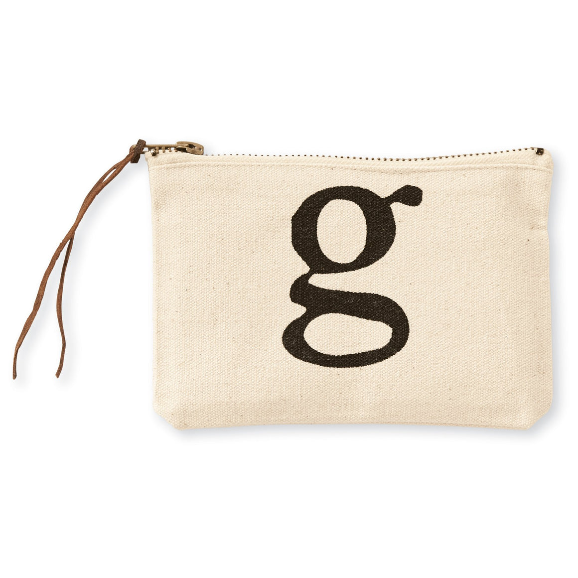 """g"" Initial Canvas Cosmetic Pouches"