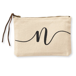 """n"" Initial Canvas Cosmetic Pouches"