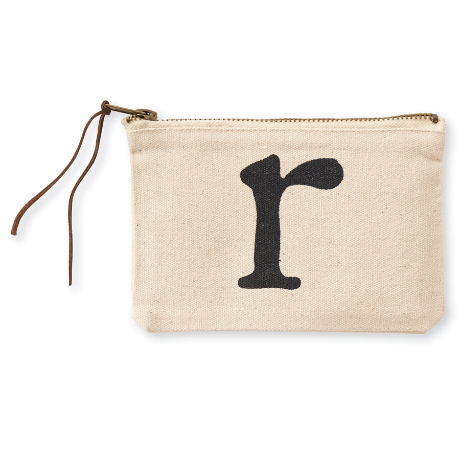 """r"" Initial Canvas Cosmetic Pouches"