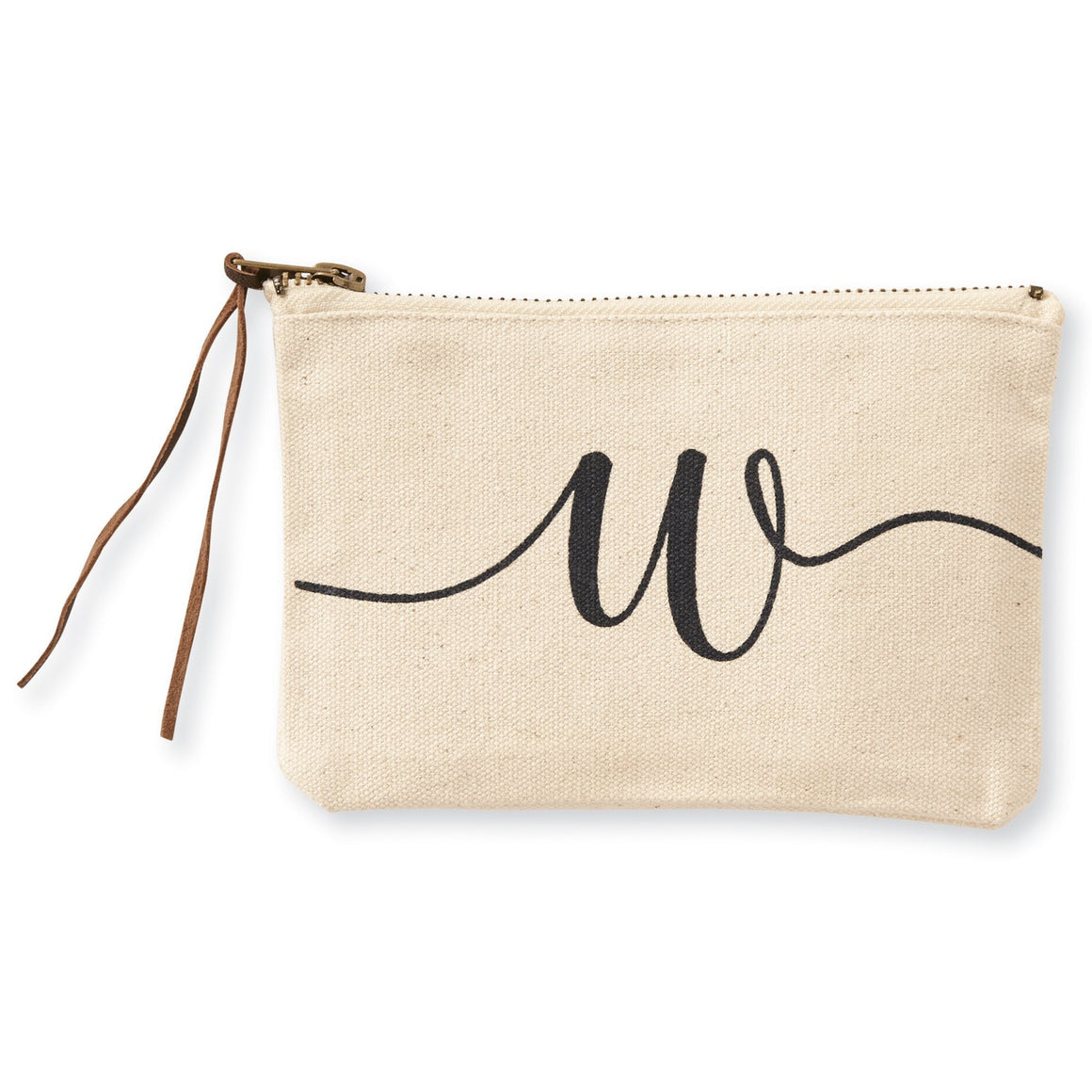 """w"" Initial Canvas Cosmetic Pouches"