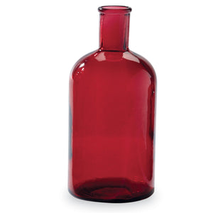 Red Bottleneck Vase - Medium