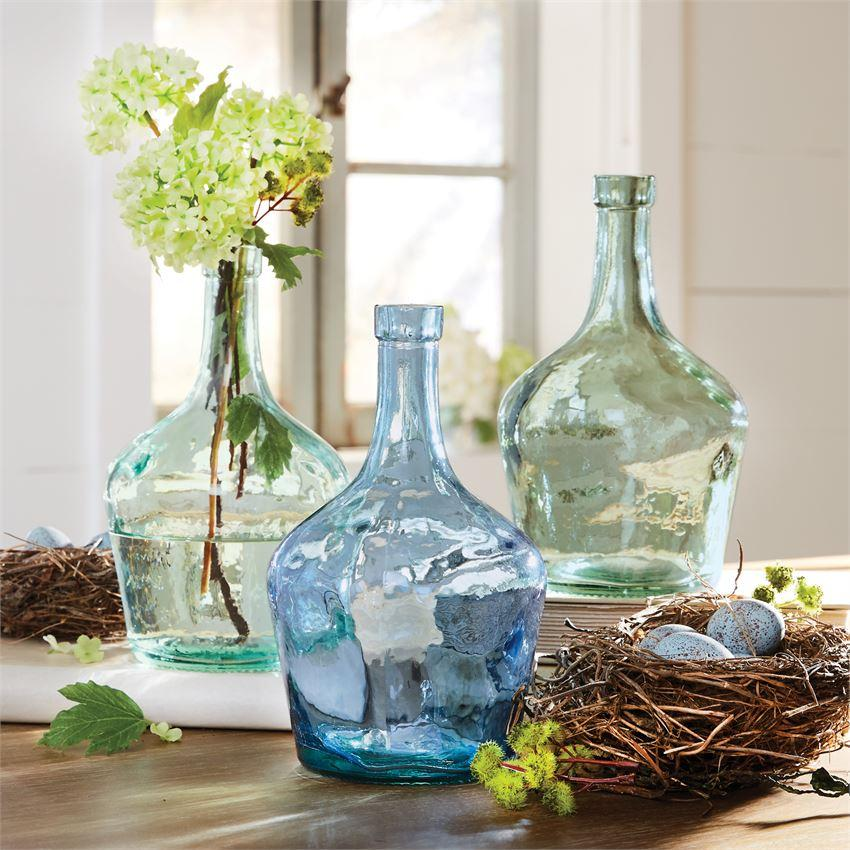 Aegean Blue Long Neck Glass Bottle