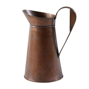Copper Tin Fluted Pitcher - Large