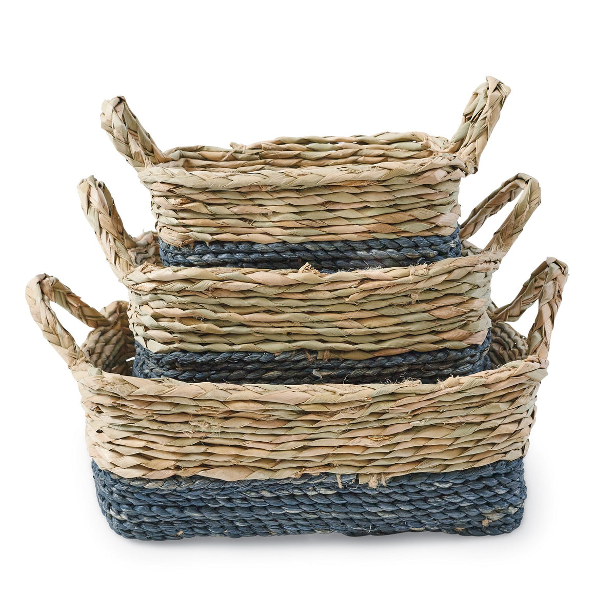Navy Seagrass Basket Set