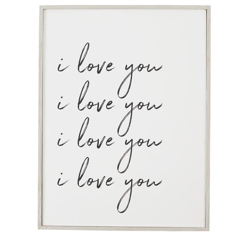 I Love You Large Plaque