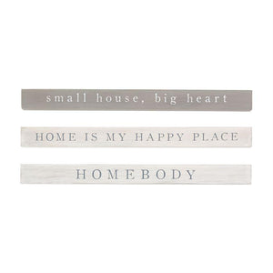 Small House, Big Heart Sentiment Stick