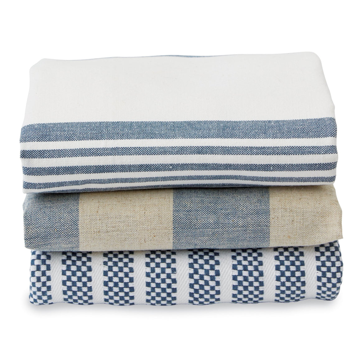 White Stacked Dish Towel Set