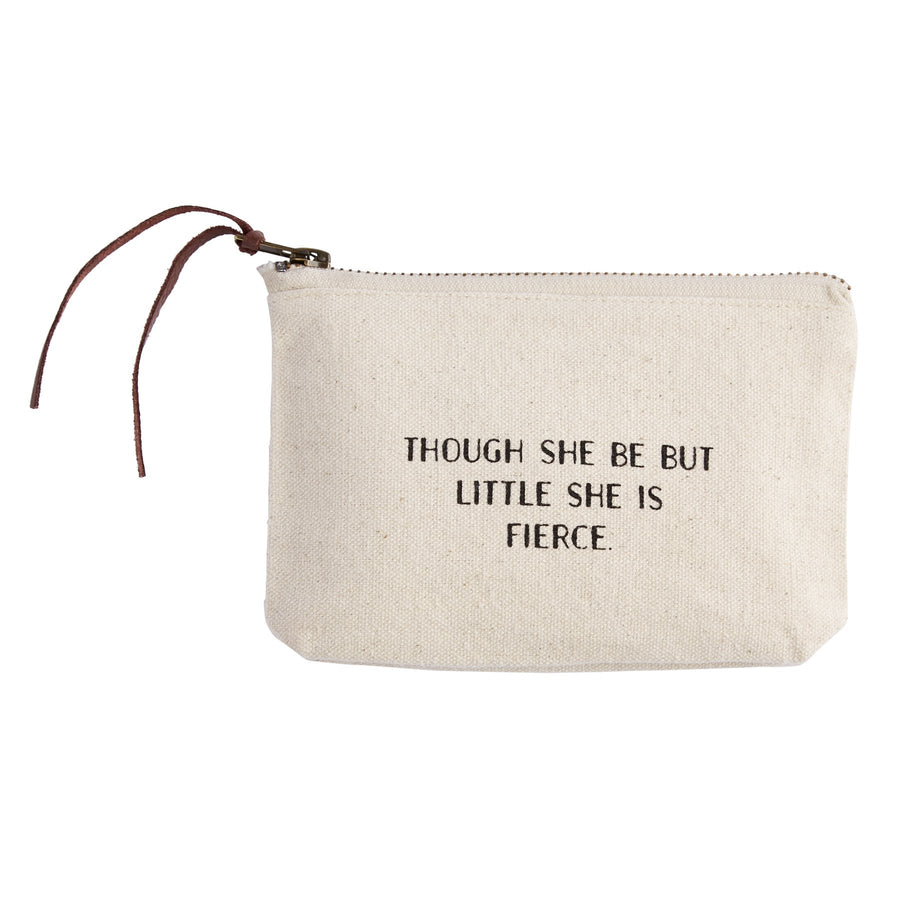 """THOUGH SHE IS BUT LITTLE..."" Canvas Cosmetic Bag"