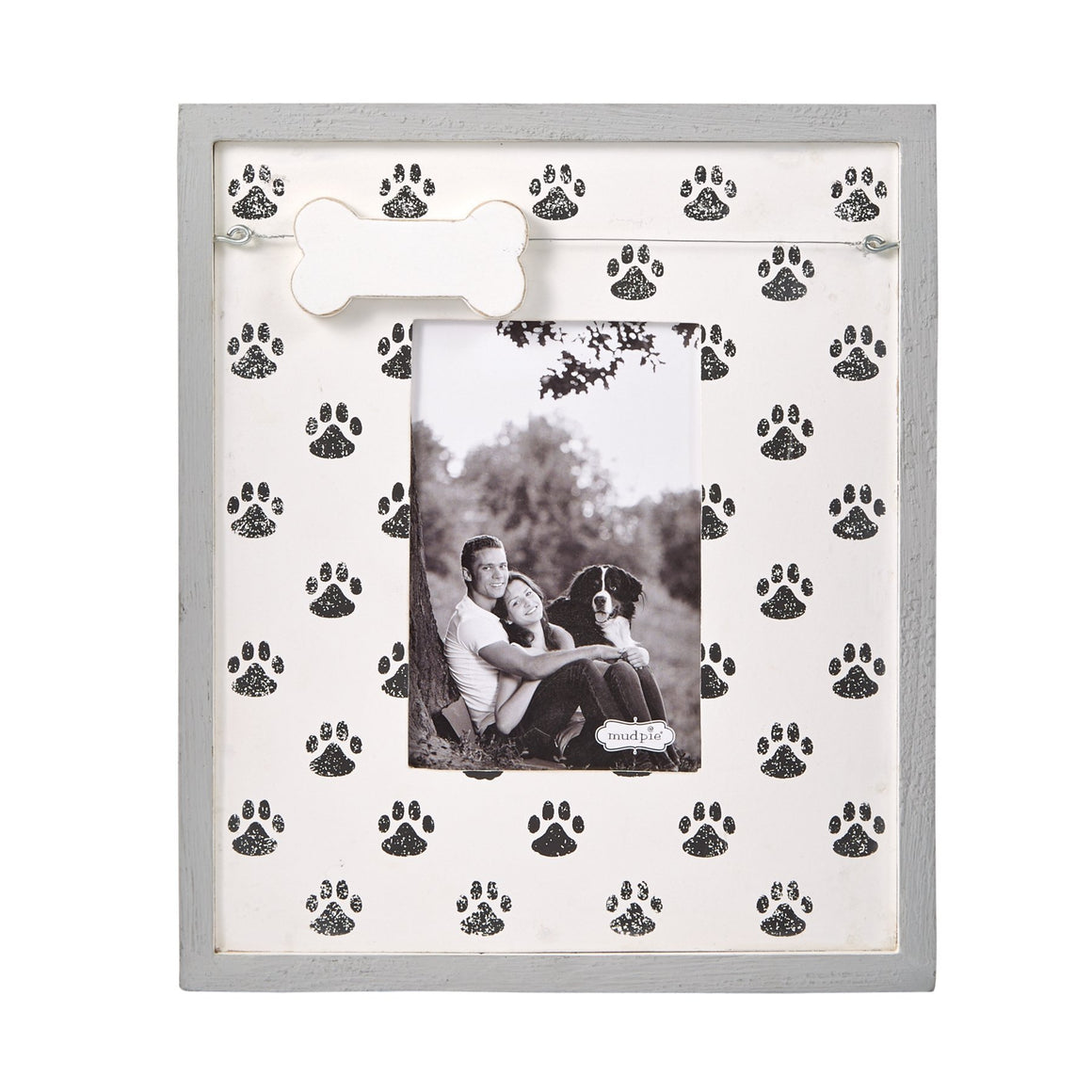 Paw Print & Dog Bone Charm Picture Frame
