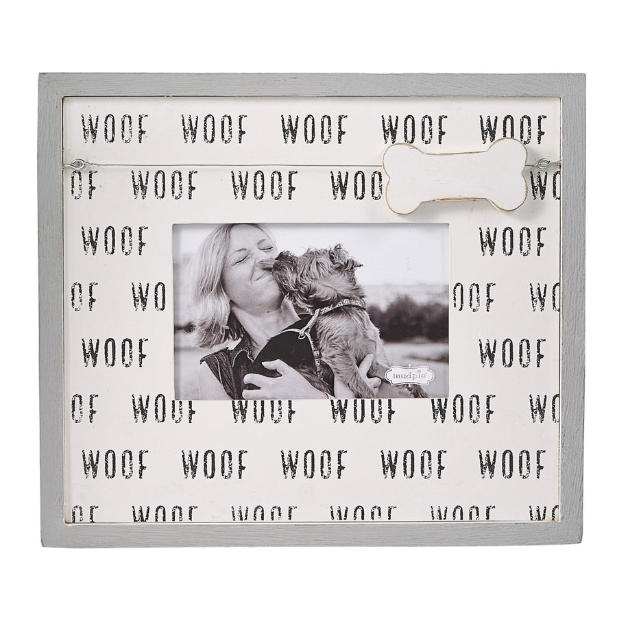 Woof Print & Dog Bone Charm Picture Frame