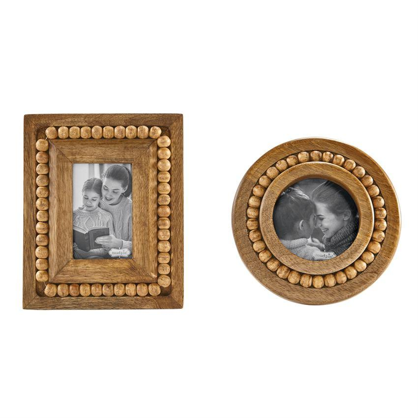 Small Beaded Wood Frames