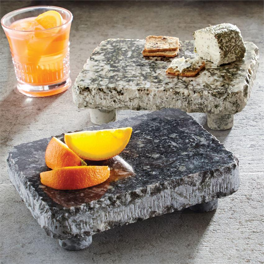 Footed Granite Serving Stones