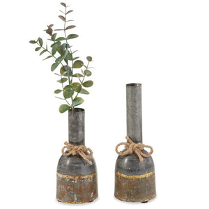 Distressed Tin Bud Vases