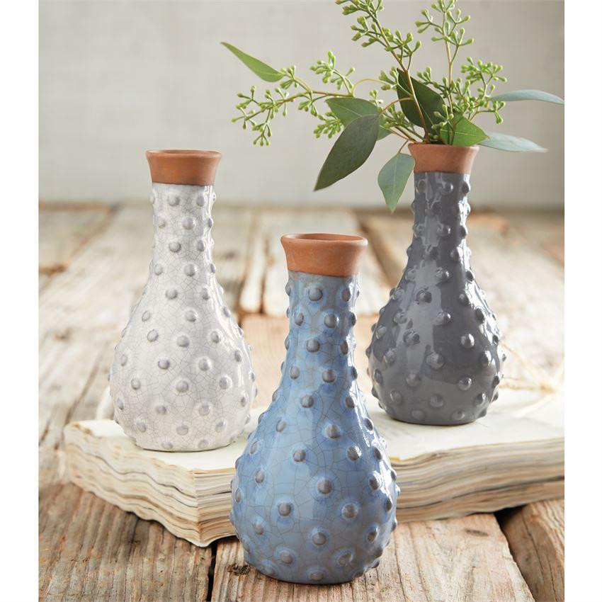 Dotted Bud Vases