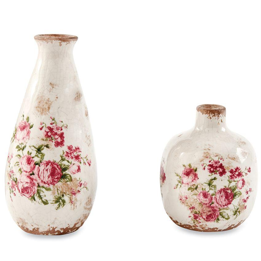 Rose Stamped Vases