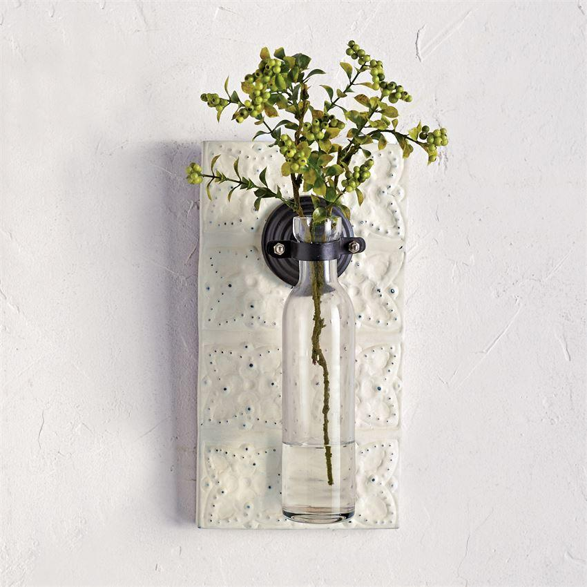 Pressed Tin Wall Planter