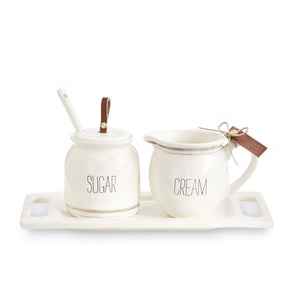 Bistro Cream & Sugar Set