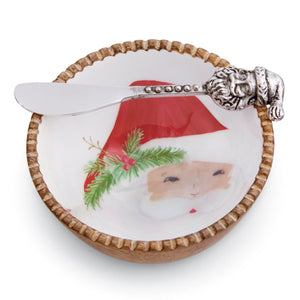 Santa Wood Dip Bowl Set