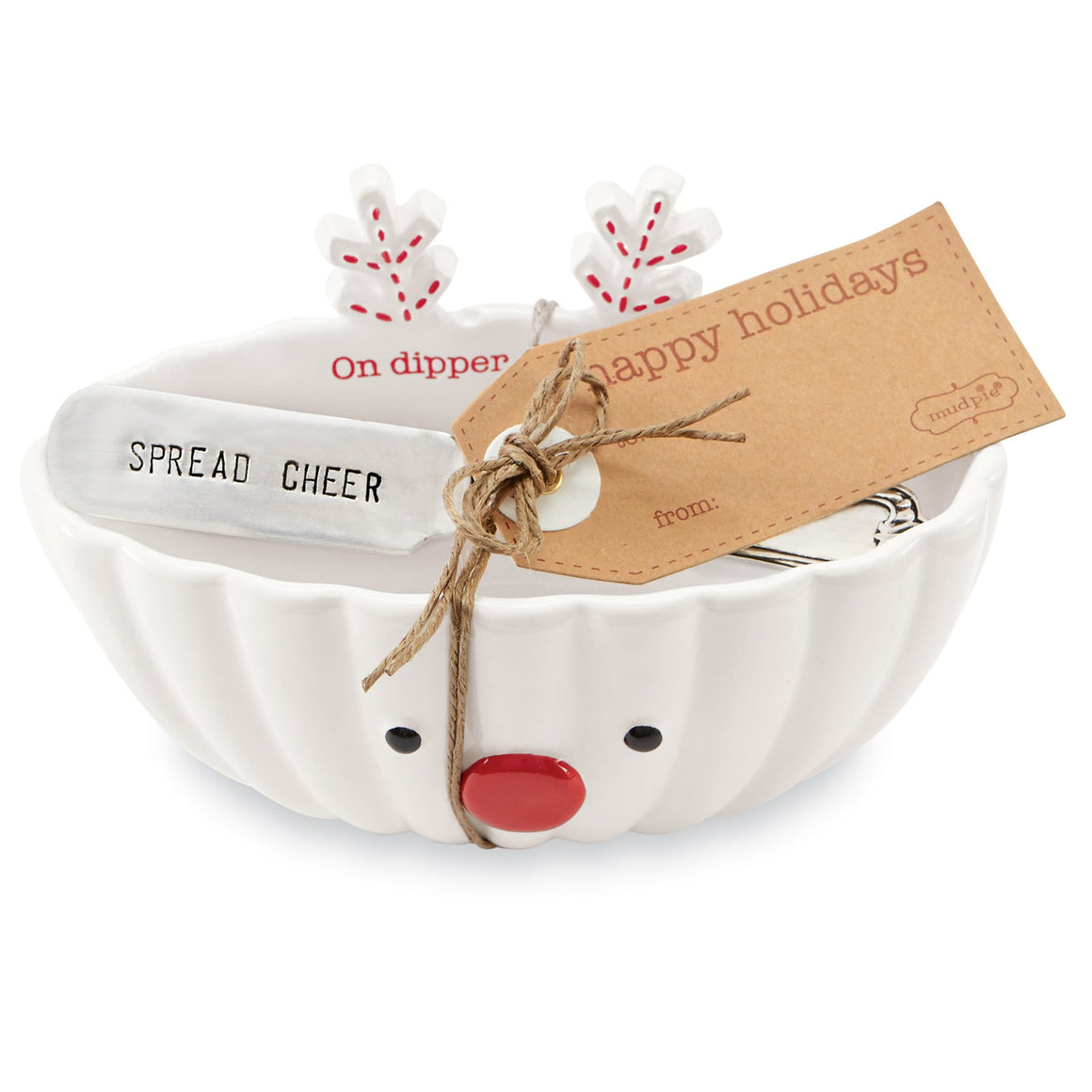 On Dipper Reindeer Dip Bowl Set