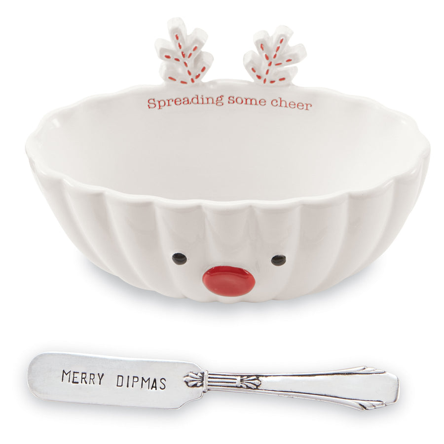 Spreading Some Cheer Reindeer Dip Bowl Set