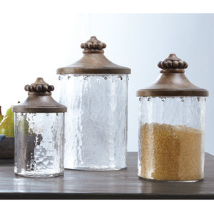 Beaded Glass Canister Set