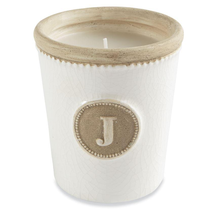 Initial Crackle Candle