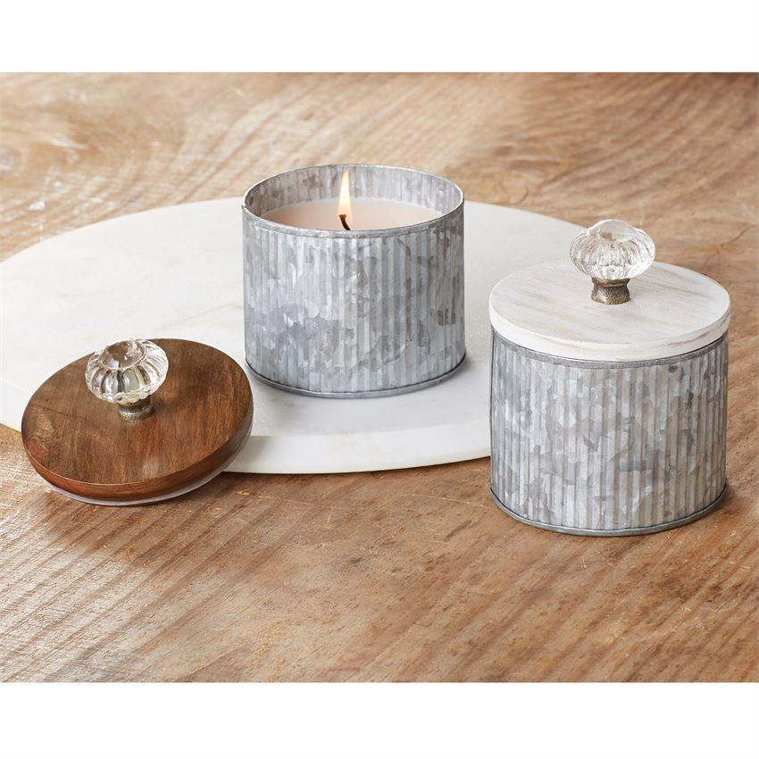 Tin Door Knob Candles