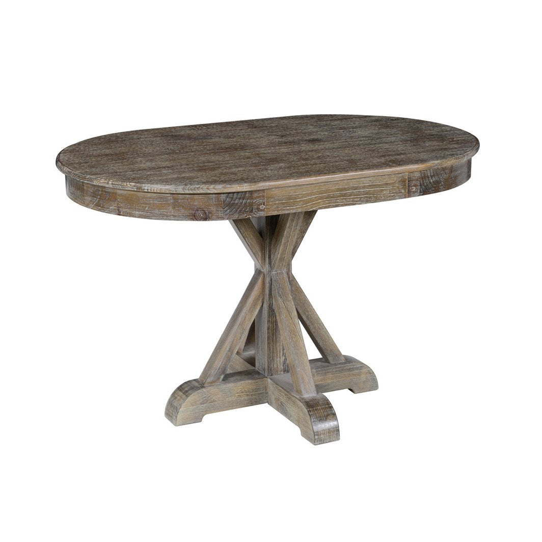 Maxwell Dining Table in Lime Wash Brown