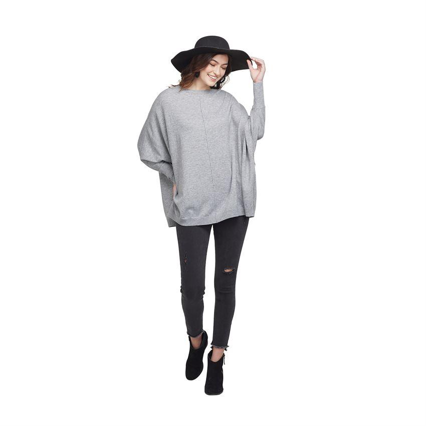 Leni Sweaters- Gray, Black, and Tan