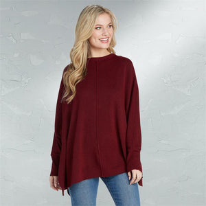 Leni Sweaters - Burgundy, Charcoal, and Camel