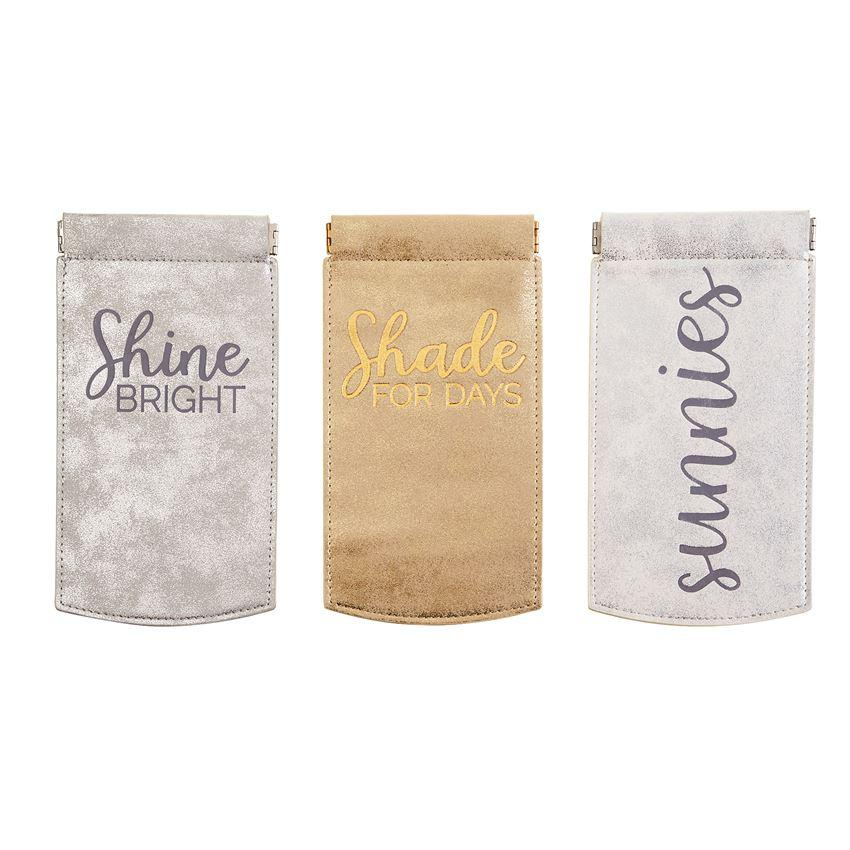 Shade For Days Shimmer Sunglass Pouch