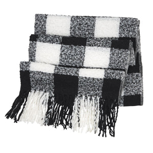 Buffalo Check Scarf Wrap - Black